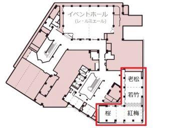 新大阪ワシントンホテルプラザ 宴会場 「Dホール(老松・若竹・紅梅・桜)」