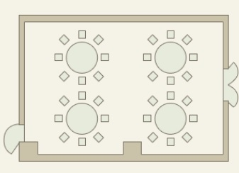 天王寺都ホテル 宴会場 「桂の間」