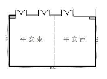 ホテルセントノーム京都 宴会 「平安の間(1/2分割)」