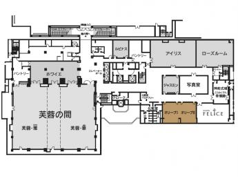 ホテルニューオータニ博多 宴会場 オリーブ(Ⅰ・Ⅱ)