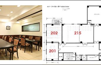 大阪コロナホテル 宴会場 「201 / 203」