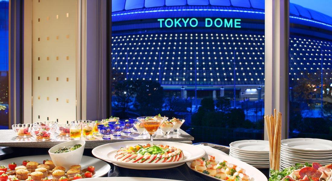 東京ドームホテル 宴会場からの景観